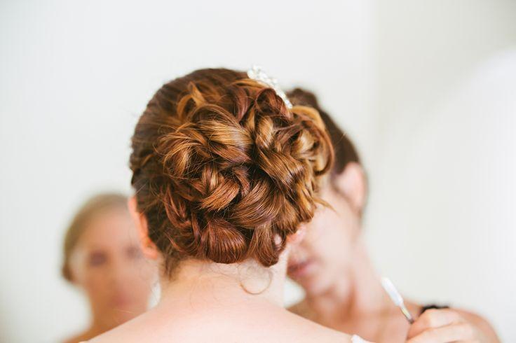 Bridal wedding hair styles | Coolibah Downs Wedding | Eliza Davis - Gold Coast Wedding Photographer |