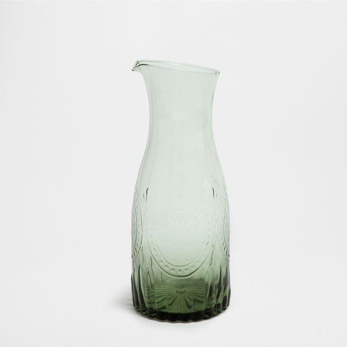 GLAZEN KAN MET RELIËF - Kruiken - Glaswerk - Tafel | Zara Home Holland
