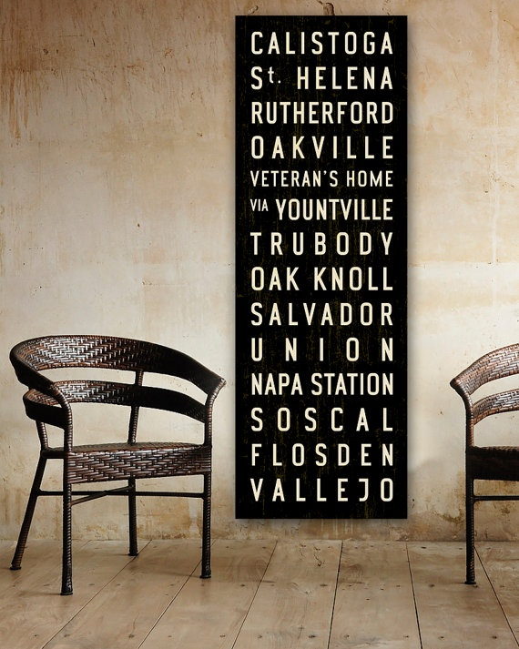 This is an idea. Could be done easily with the Cricut. Maybe use local destinations....or honeymoon destination? And what if we had like a vintage looking sign with destinations/times the train leaves? Could also add the time of the wedding, then the time/destination of the honeymoon...