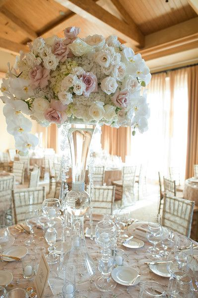Clear Trumpet Floral Vase Wedding Centerpiece                                                                                                                                                                                 More