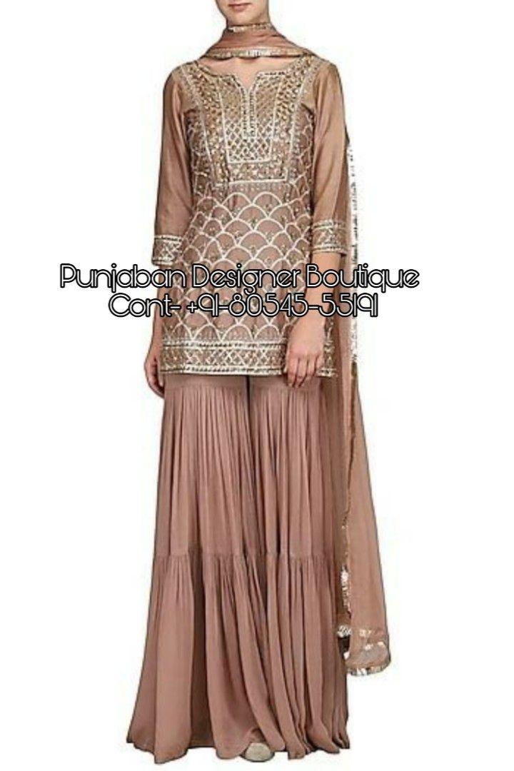 Sharara suits available at Punjaban Designer Boutique  👉 CALL US