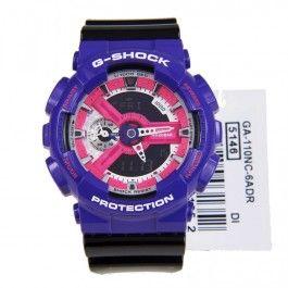G-Shock Casio GA-110NC-6A GA110NC Quartz World Time TriColor Sports Watch