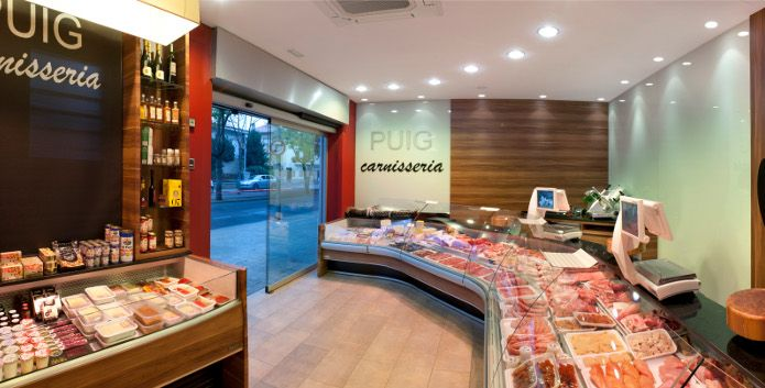 Alimentaci n gourmet dise o de carnicer as charcuter as butcher shop pinterest - Decoracion carnicerias ...