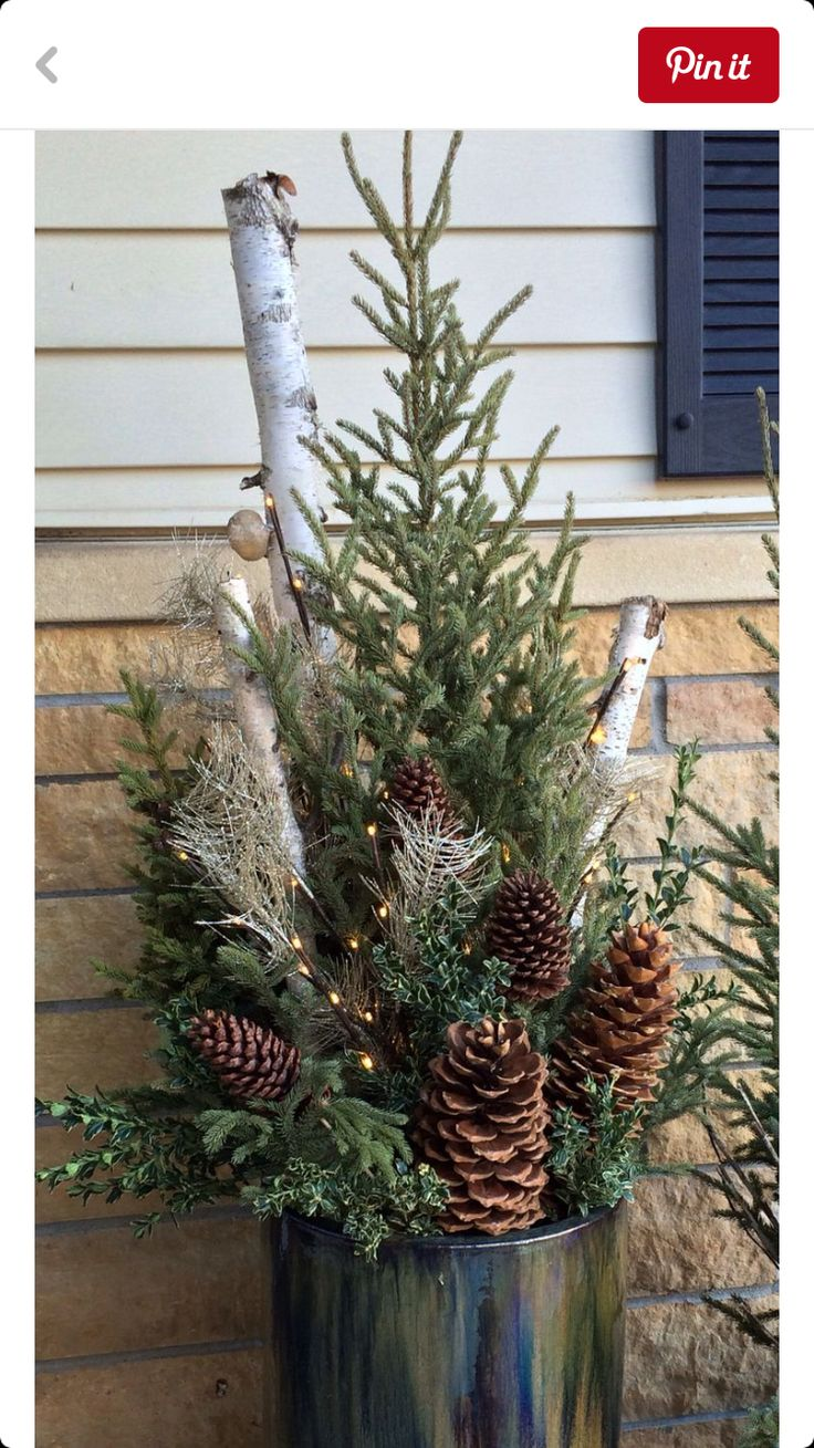 113 best winter containers images on pinterest christmas