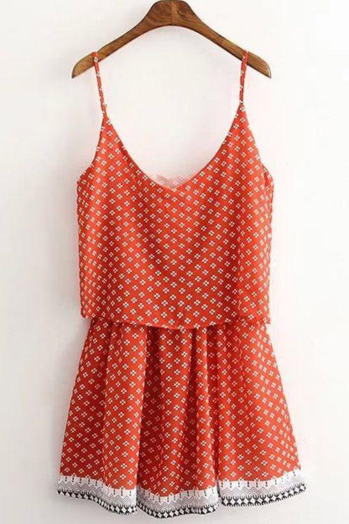 Tiny Floral Layered Cami Dress