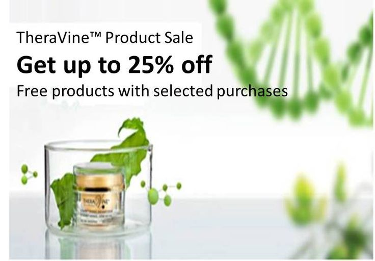 TheraVine (TM) Product Sale: Get up to 25% off, Free products with selected purchases