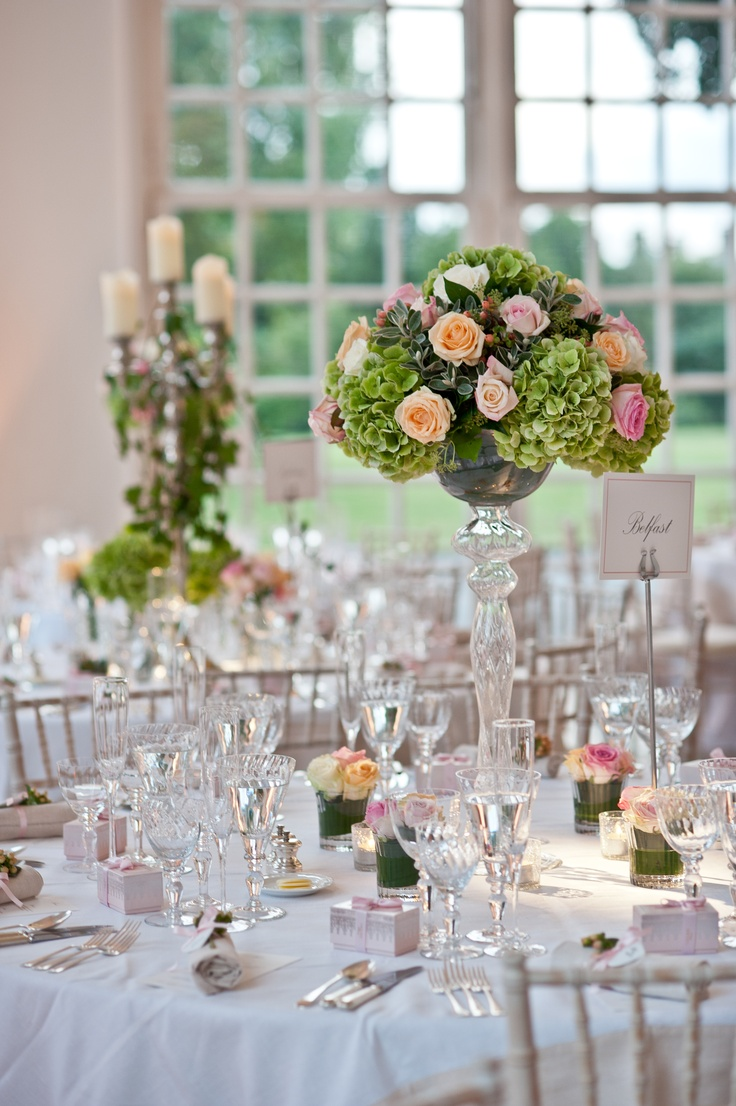 My wedding reception tables i had half the tables with for Glass tables for wedding reception