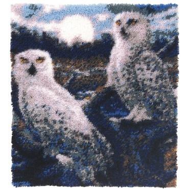 Moonlight Owls Latch Hook Rug Kit - Latch Hook Rug Kits - Latch Hook - Crafts