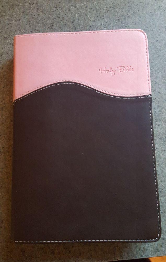 Holy Bible NIV Zondervan - Italian Duo-Tone - Pink & Brown | Books, Nonfiction | eBay!