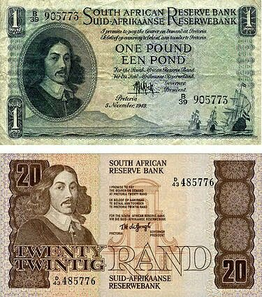From the good old days, when South African currency was still worth something!