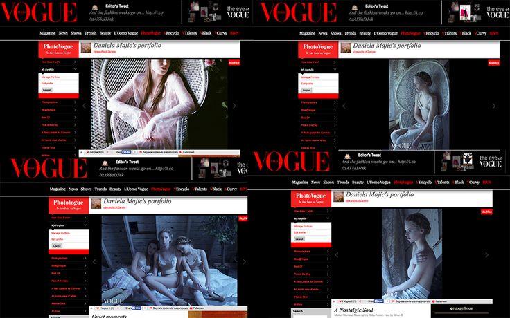 Hair: Jillian DiBernardo Makeup: Katie Foster Photographer: Daniela Majic  Featured on Vogue Italia Website