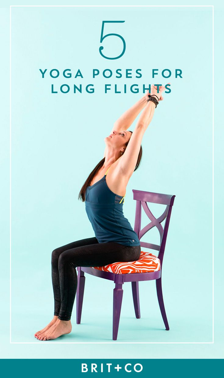 If you're embarking on a long flight, you need to practice these 5 in-flight yoga poses.