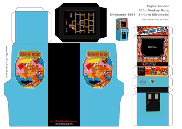 Donkey Kong Arcade template by ~AUSTINMEADOWS on deviantART