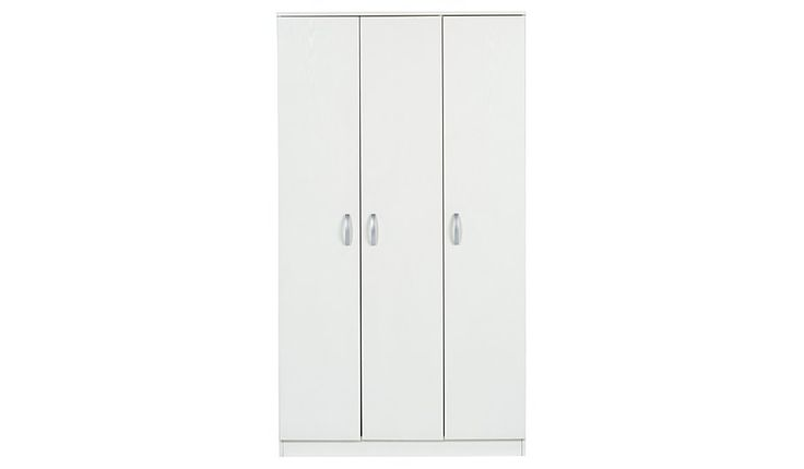 George Home Marlow 3 Door Wardrobe, read reviews and buy online at George at ASDA. Shop from our latest range in Home & Garden. Storing away your clothes is ...