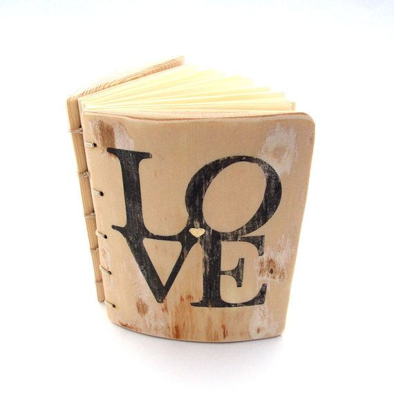 Love Personalized Wood Wedding Guest Book rustic by KatDeco, $75.00