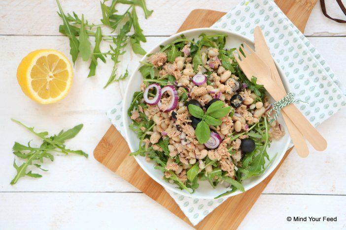 Witte bonen salade met tonijn Lekkere én gezonde bbq recepten - Mind Your Feed