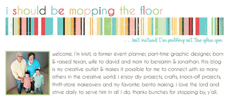 This is my very good friend Kristi's blog...check it out. So many fun ideas!!!