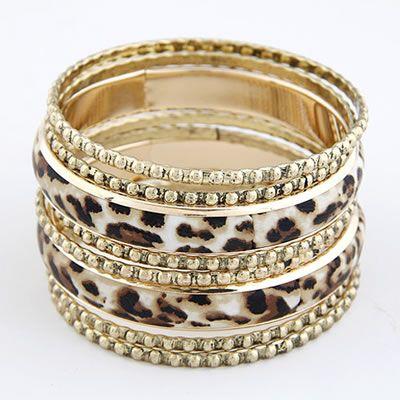 Leopard pattern multilayer bangle set  Code: A27431  Price: R65.00