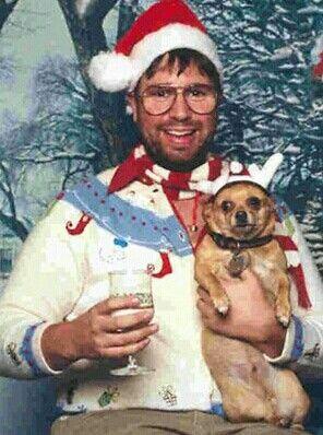 Tacky Christmas. Poor dog.
