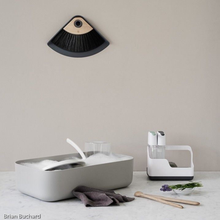 """RigTig is the sister-brand to prestigious Scandinavian lifestyle brand - Stelton.    The """"Dishy""""  Dish Rack from RigTig is an ingenious 2-in-1 solution.     Both a washbowl and a dish rack - The rack has cutlery holders, a dish drainer and draining board for cups, all of which, fits neatly inside the washbowl. DISHY is simple, practical and easy to store.    Dimensions: :26cm x 45.5cm x 11.5cm    Colours: Available in Light Grey or Green     PRE-ORDER NOW: Stock arrives in late November 2016"""