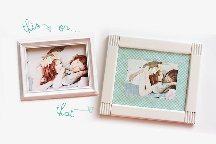 Make your own photo mats! So easy!