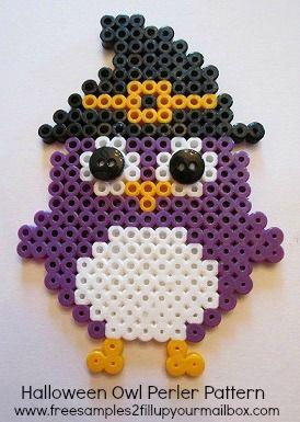Halloween Owl Perler Bead Pattern