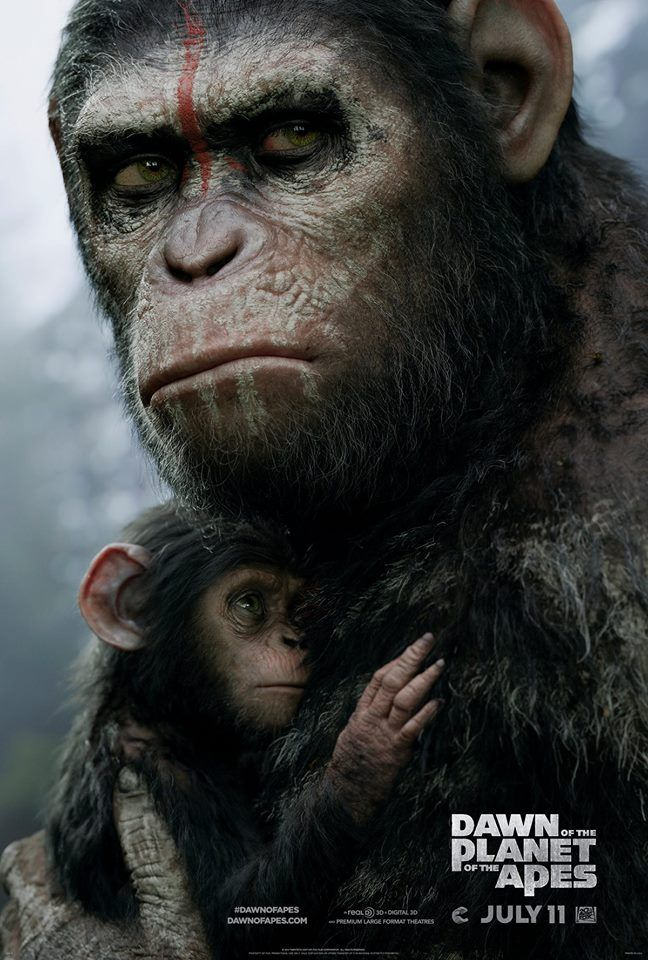 "New ""Dawn of the Planet of the Apes"" poster!"