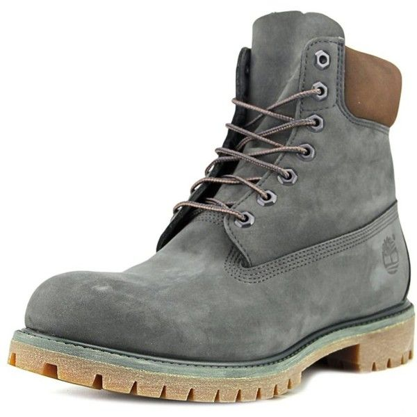 Timberland Timberland 6in Prem Men Round Toe Suede Green Boot |... ($177) ❤ liked on Polyvore featuring men's fashion, men's shoes, men's boots, green, shoes, mens round toe shoes, mens faux leather boots, timberland mens boots, mens boots and mens shoes