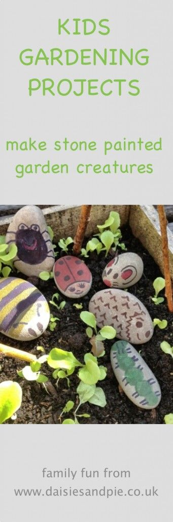 Painted stone creatures | painted stone mini beasts, how to paint stone garden bugs, kids summer activities, kids gardening activities, family fun from Daisies & Pie