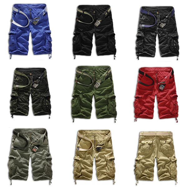 Мужская свободного покроя короткие армия брюки-карго боевой камуфляж габаритные шорты спортивные шорты