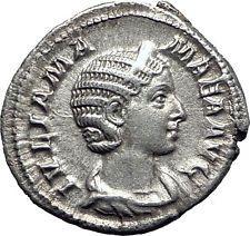 JULIA MAMAEA Severus Alexander Wife Silver Ancient Roman Coin Felicitas i63411