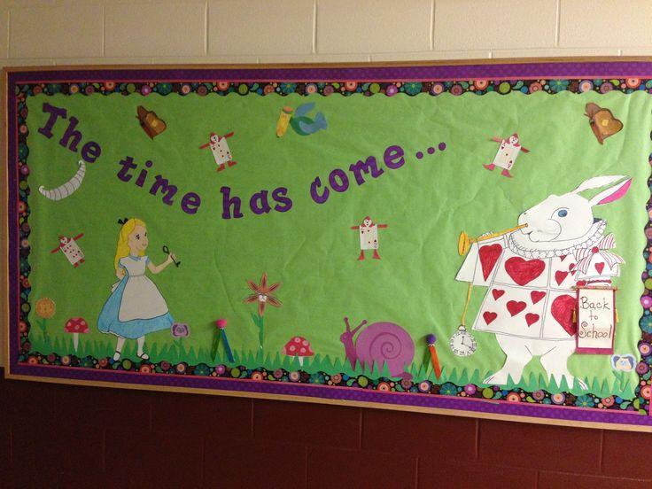 Alice in Wonderland bulletin board