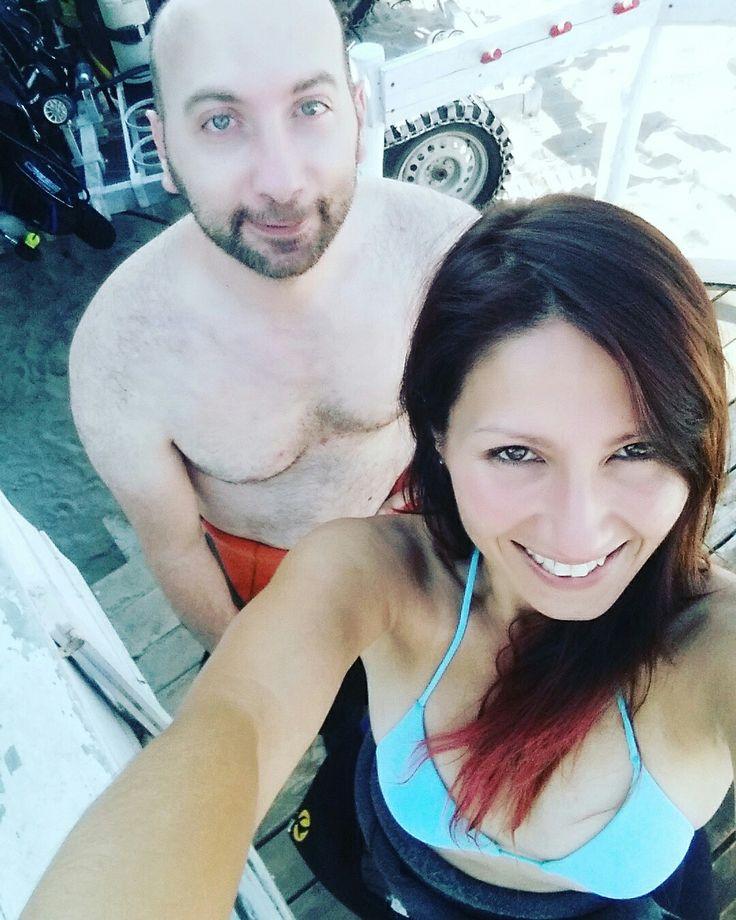 Con il mio amico Armando, ci prepariamo per l'immersione