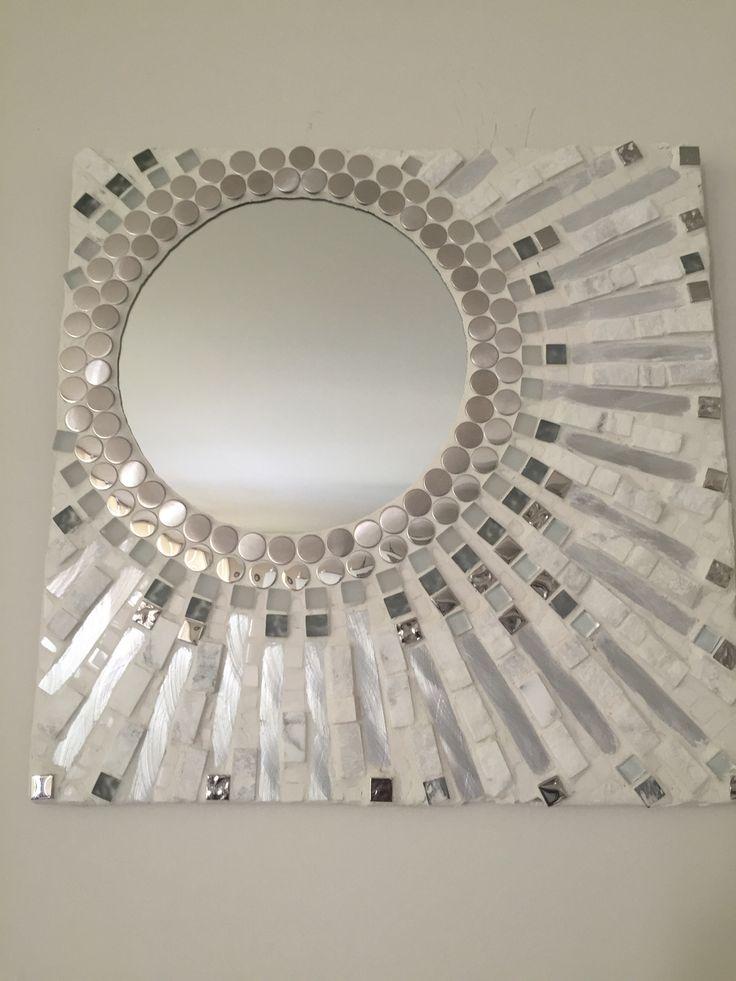 Mosaico espejo diversas texturas