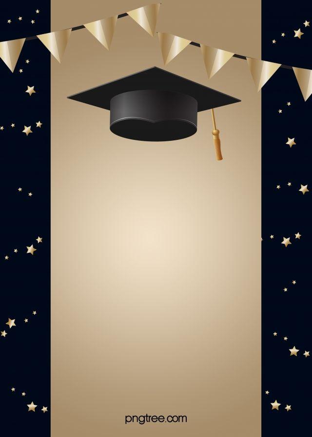 Black And Golden Happy Graduation Hat Background Graduation