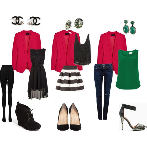 """""""red blazer outfits"""" by kerolaina-lallo on Polyvore"""