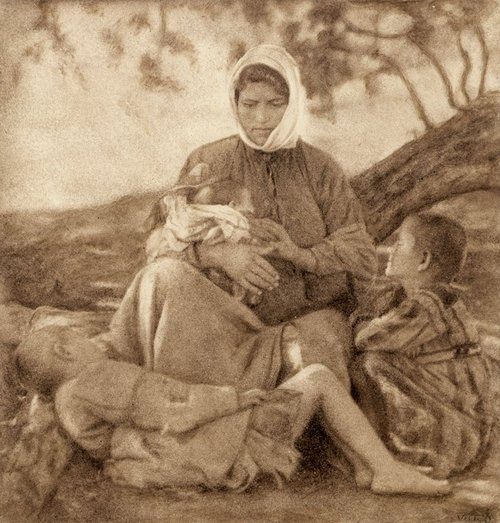 Photograph of Nelly's (Elli Souyioultzoglou-Seraidari) (1899-1998), Greek refugees from Asia Minor (Turkey).
