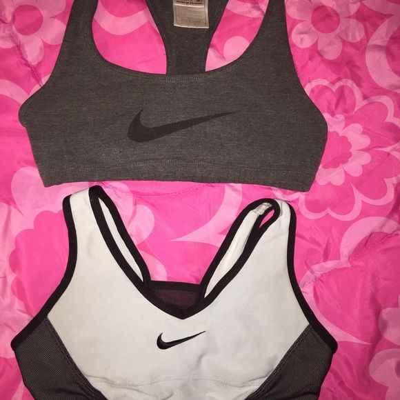 Nike Bra !Bundle! Great conditions! NO RIPS OR STAINS. Gray one is size SMALL and white/black is size XSMALL. Nike Intimates & Sleepwear Bras
