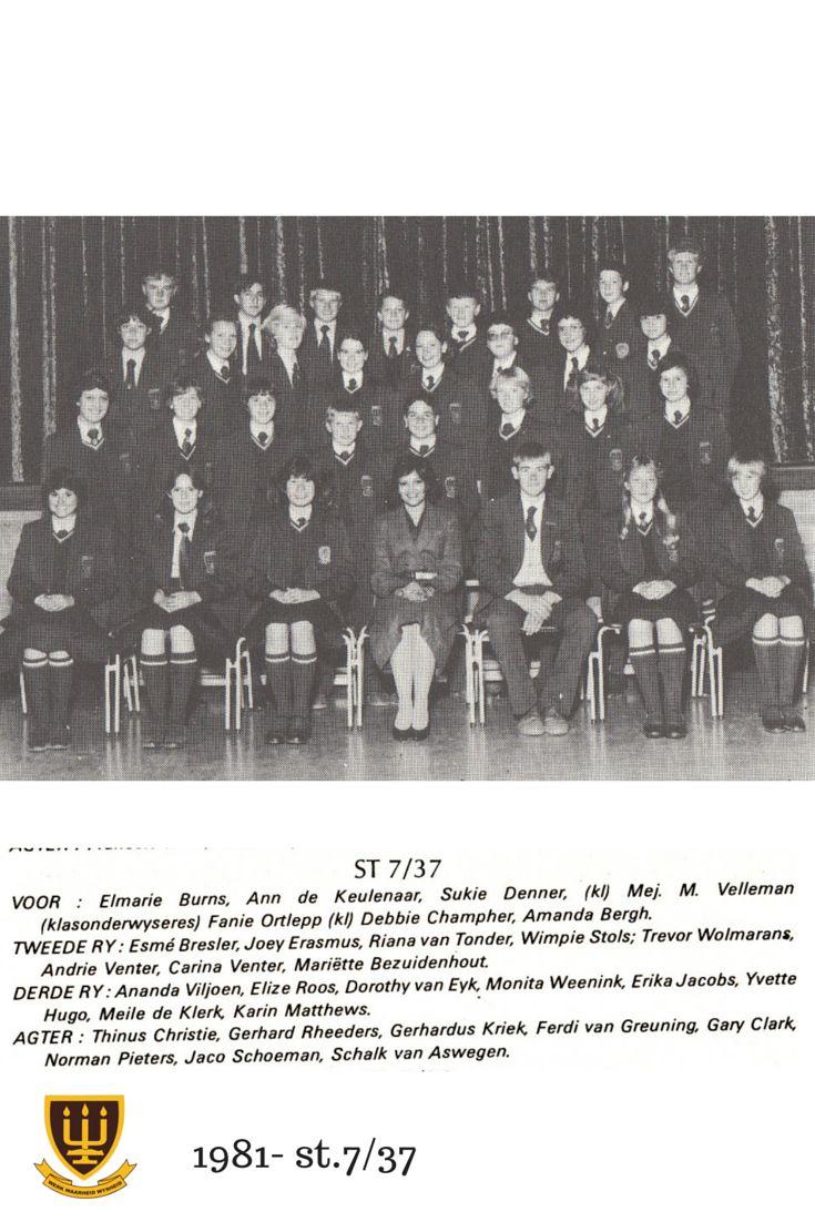 St.7/37 Hoërskool Wesvalia 1981