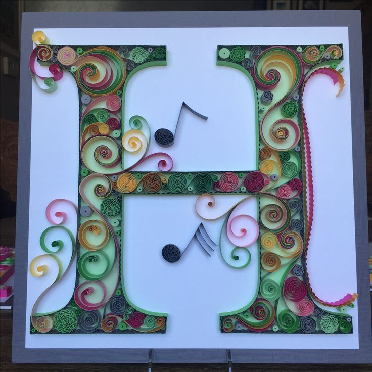 45 best my quilling images on pinterest monogram for Quilling home decor