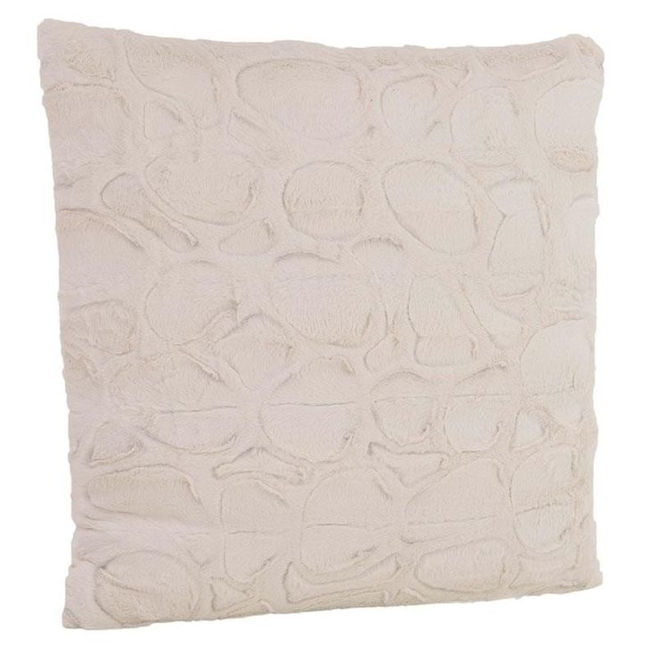 SYNTHETIC FUR CUSHION COVER IN CREAM COLOR 60X60 - Furs - FABRIC ITEMS
