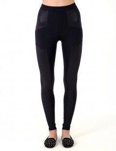 Black leggings-shimmery paneled leggings