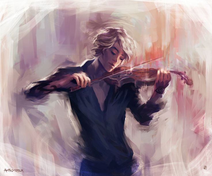 "akimao: "" Violin & James Carstairs I have a good soundtrack for this pic [x] [x] ~ "" So pretty!"