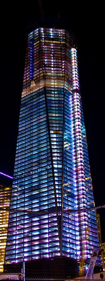 Centro de comercio mundial Nueva construcción en la Zona Cero en Nueva York