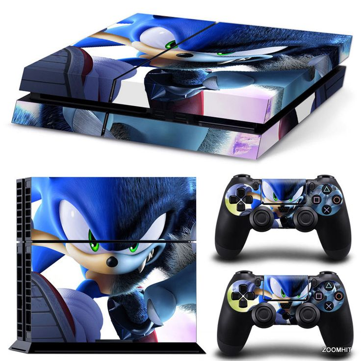 PS4 Playstation 4 Console Skin Decal Sticker Sonic The Hedgehog Cartoon Design  #ZoomHit