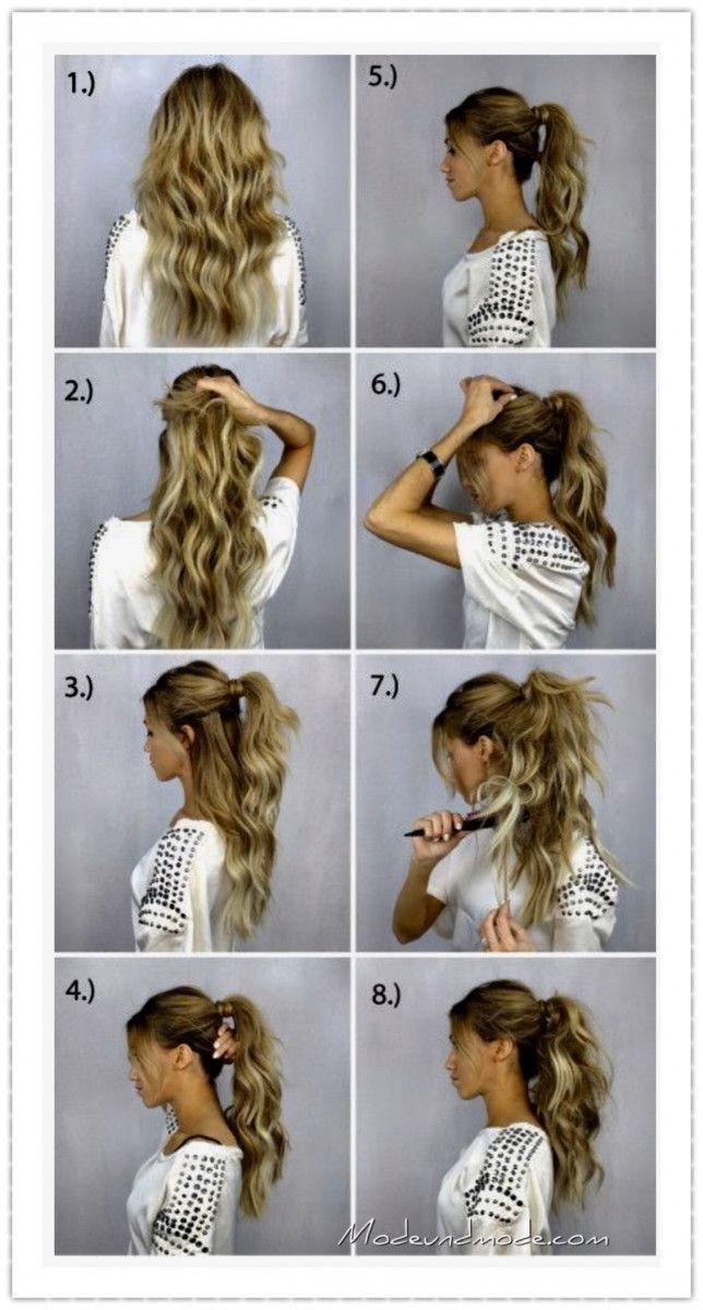 Pferdeschwanz Frisur Mode Und Mode Coole Frisuren Lange Haare Haare Schritte