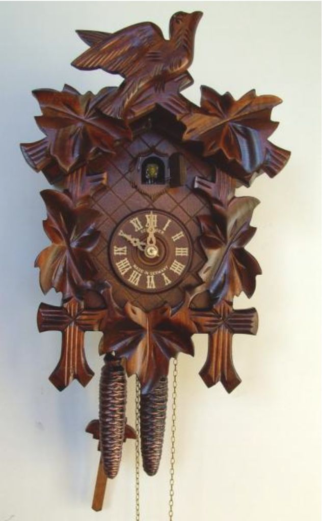 17in birds u0026 leaves 1 day traditional german black forest clock by sch