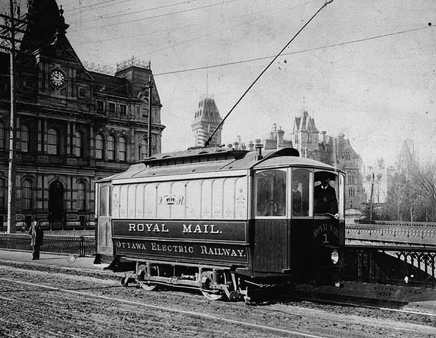 Mail car, Ottawa Electric Railway Company, Ottawa, Ontario, 1894 Source: http://collectionscanada.gc.ca/pam_archives/index.php?fuseaction=genitem.displayItem&lang=eng&rec_nbr=3191695&rec_nbr_list=4316905,4316904,4316698,4316697,4316696,4311037,4310775,3358765,4311038,4310776,34014