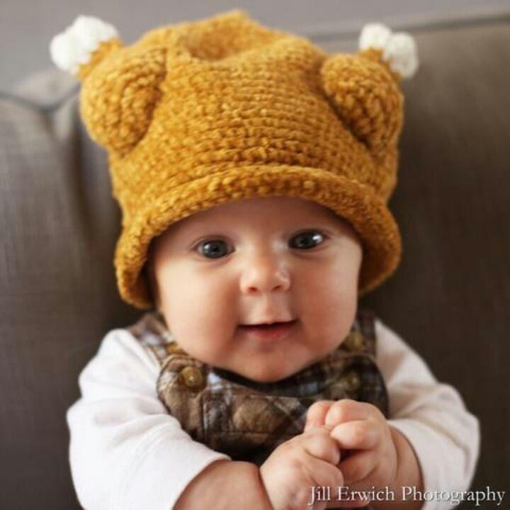 Crochet Baby Hat Pattern Super Bulky Yarn : Awesome Turkey Baby Crochet hat. A. Free crochet ...