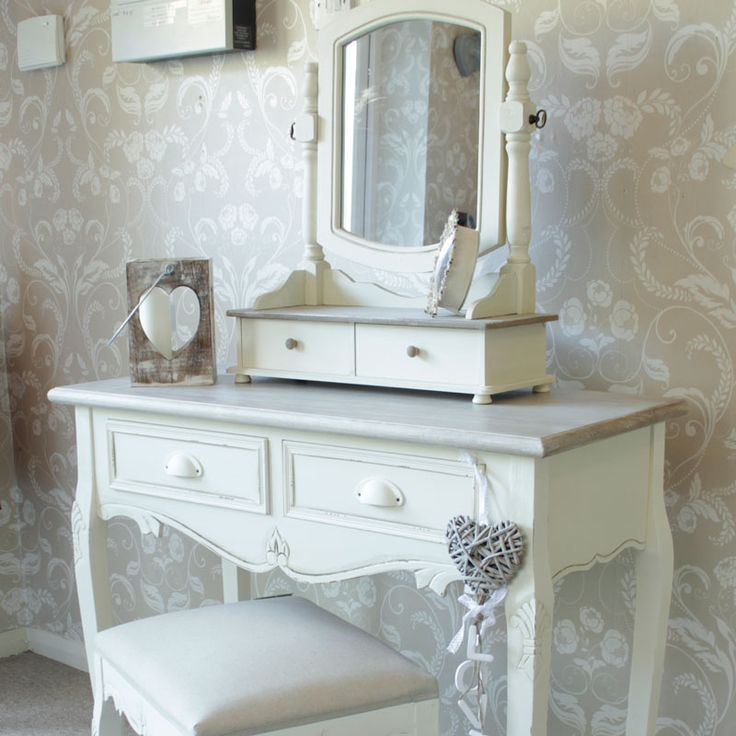 £239.95 Country Ash Range - Cream Dressing Table, Swing Mirror and Stool Set